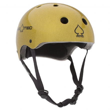 Pro-Tec Classic Certified Helmet Gold Flake Medium